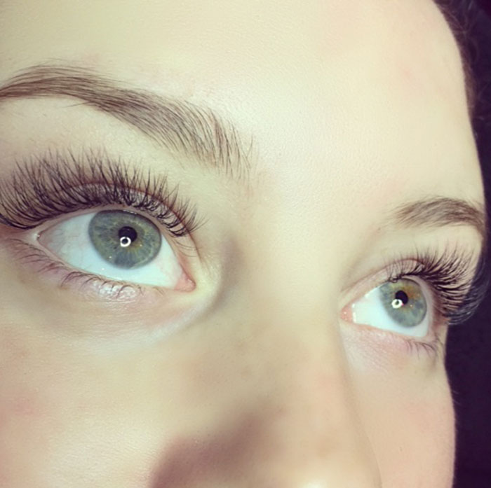 volume lashes example at vanity lash lounge
